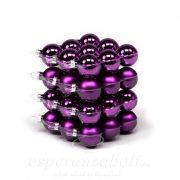 Gömbdísz üveg 4 cm sötét lila 36 db-os Karácsonyfa gömb