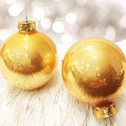 Gömbdísz üveg 57mm arany 36 db-os  Karácsonyfa gömb