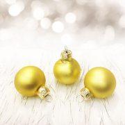 Gömbdísz üveg 3cm aranysárga 18 db-os  Karácsonyfa gömb