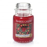 Gyertya nagy Red Apple Wreath 17x10cm Yankee Candle