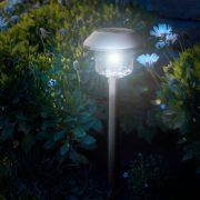 Napelemes kerti lámpa leszúrható, hidegfehér 45 x 12,5 cm