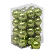 Gömbdísz üveg 2,5 cm zöld 24 db-os Karácsonyfa gömb