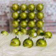 Gömbdísz üveg 4 cm zöld 64 db-os Karácsonyfa gömb