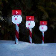 Hóember 39x6cm karácsonyi napelemes lámpa