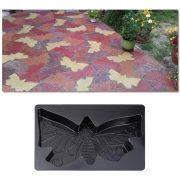 Térkősablon öntőforma pillangó 44 x 30 x 4,3 cm