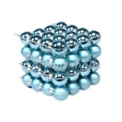 Gömb üveg 4cm kék matt-fényes 64db/szett