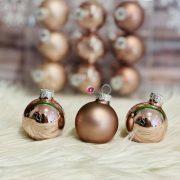 Gömbdísz üveg 4cm smokey rose 18 db-os Karácsonyfa gömb