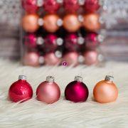 Gömb üveg 4cm hibiszkusz 64 db / szett Karácsonyfa gömb
