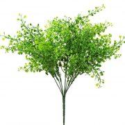 Selyemvirág zöld leveles csokor 35cm zöld