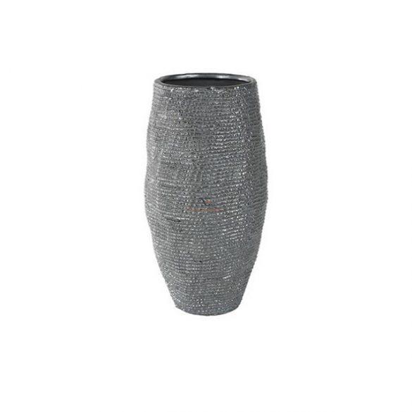 Váza kerámia 16x28cm szürke