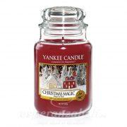 Gyertya nagy üvegben Christmas Magic 17x10cm Yankee Candle