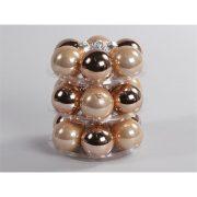 Gömbdísz üveg dobozos 4cm bronz matt-fényes 18 db-os Karácsonyfa gömb