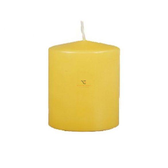 Gyertya henger 8x10cm sárga