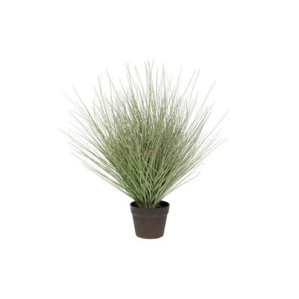 Selyemvirág Pampafű kaspóban csillogós 70x34x34cm zöld