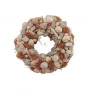 Koszorú kagylókkal 30cm bézs