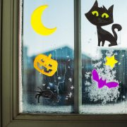 Zselés ablakmatrica szett halloween kellék
