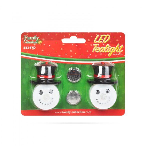 LED teamécses - hóember - 2 db / csomag