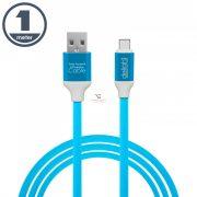 Adatkábel USB Type-C szilikon bevonat 4 szín 1 m