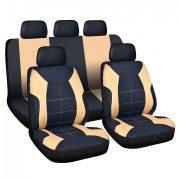 Univerzális autós üléshuzat szett sport drapp- fekete - 9 db-os