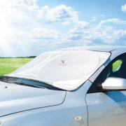 4 évszakos Autós szélvédő takaró,  jegesedésgátló - 200 x 70 cm