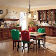 Székdekor - manósapka - piros / zöld 2 db / csomag 69 x 49 cm