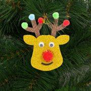 Karácsonyfadísz szett rénszarvas 2 db / csomag