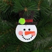 Karácsonyfadísz szett hóember 2 db / csomag