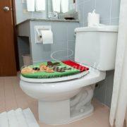 WC ülőke huzat dekor Rénszarvas