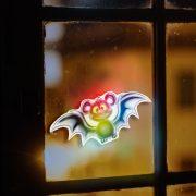 Halloween-i RGB LED dekor - öntapadós - denevér