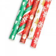 Papír szívószál Karácsonyi 197 x 6 mm 25 db / csomag