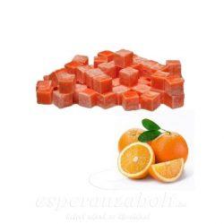 Viasz kocka illatos 3x3x3cm narancs 8db/doboz