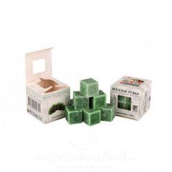 Viasz kocka illatos 3x3x3cm karácsonyfa 8db/doboz