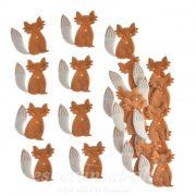 Dekoráció Streuartikel róka textil barna 20db/szett
