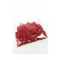 Csillag konfetti -piros