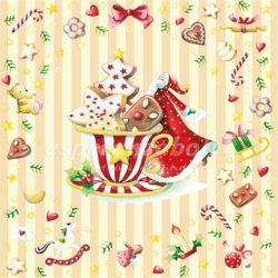 Papír Szalvéta 3 rétegű - Cookies Cup 33x33cm krém 20db/csomag