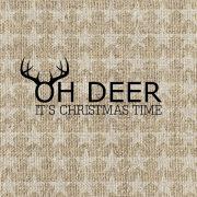 Papír Szalvéta 3 rétegű - Oh Deer 33x33cm arany 20 db/szett