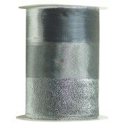 Szalag matt,fényes,glitteres 120mmx10m ezüst karácsonyi szalag