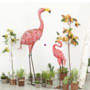 XL Kerti figura flamingó fém 95 cm