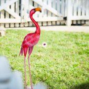 Kerti figura flamingó fém 65 cm