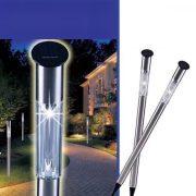 Grundig leszúrható napelemes lámpa XL 70cm rozsdamentes acél