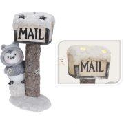 Karácsonyi Pingvin figura 43cm világító postaládával LED 2 féle