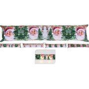 Karácsonyi mintás huzatfogó ablakhoz, ajtóhoz LED világítással 83x18cm