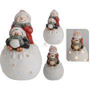 Karácsonyi LED figura mikulás, hóember 40 cm 2 féle