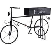 Vintage Bicikli virágtartó kerti dísz fekete 67 cm