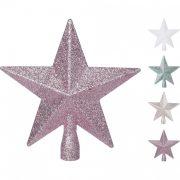 Karácsonyfa csúcsdísz csillag többféle színben