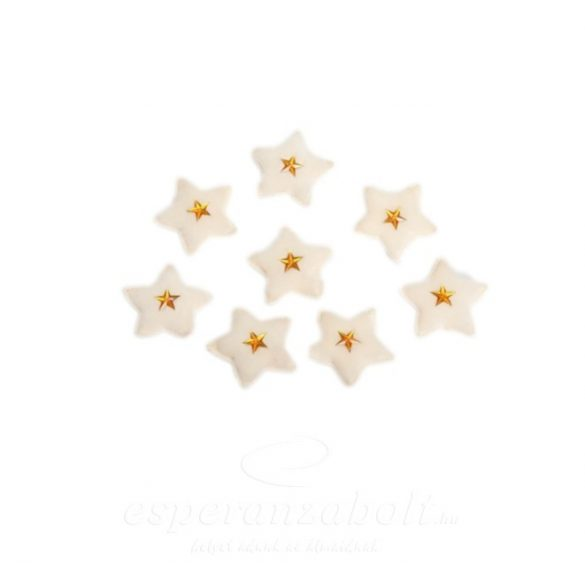 Textil csillag 5cm fehér 8db-os kiszerelés