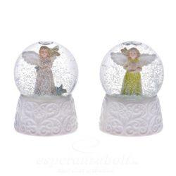 Rázógömb angyalos műanyag 6,5cm 2 féle