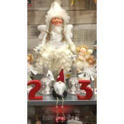Álló karácsonyi Angyal textil 53cm