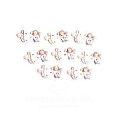 Poly ragasztós angyal 3,7x0,7x2cm fehér 8db-os kiszerelés
