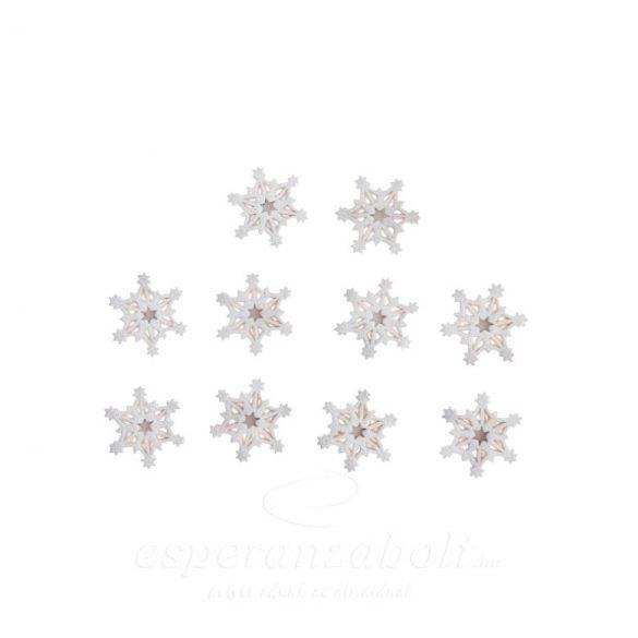 Poly ragasztós hópehely 2,8x0,4x2,8cm fehér 8db-os kiszerelés
